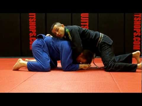 Jiu Jitsu Techniques - Reverse Cross Choke Turtle Guard Attack Image 1