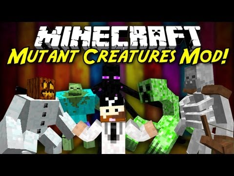 Minecraft Mod Showcase: Mutant Creatures! [1.6.4] NEW SKELETON MUTANT!
