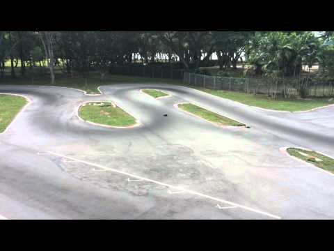 Infinity 1/8 on road nitro R/C (radio control) car @ Singapore PA RC car track #2