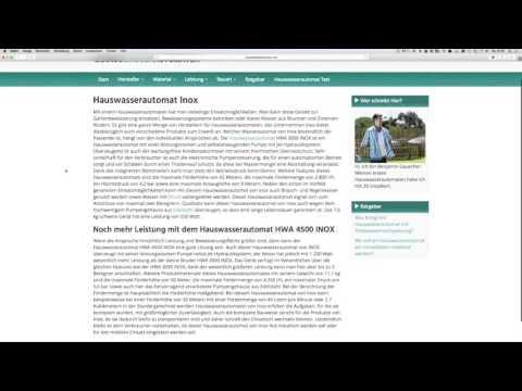Hauswasserautomat Inox | Tests & Kaufempfehlung
