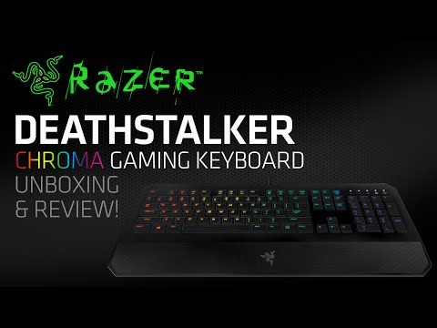 Razer DeathStalker Chroma RGB Gaming Keyboard Unboxing & Review!