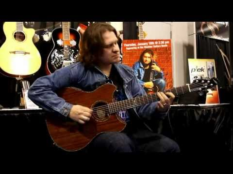 Roman Miroshnichenko with Wechter Pathmaker Thinline Deluxe at Winter NAMM 2012