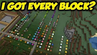I Tried To Collect EVERY BLOCK In Survival Minecraft