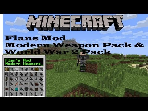 Minecraft Mod Review - Flans Mod 2# - Alle Waffen [Modern Weapons & WW2 Pack. Deutsch]