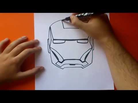 Como dibujar a iron man paso a paso How to draw iron man