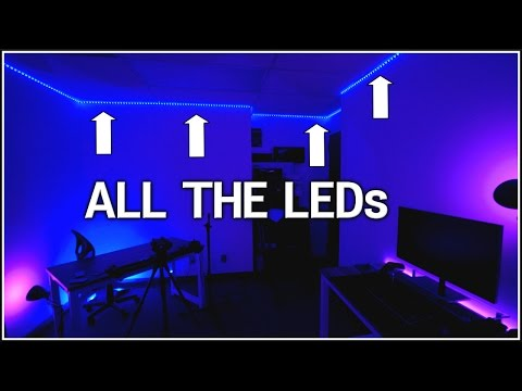 How To Install WHOLE Room RGB LEDs!