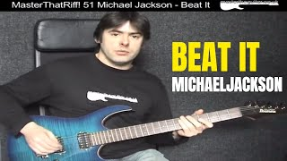 """Beat It"" by Michael Jackson - Guitar Lesson w/TAB - MasterThatRiff! 51"