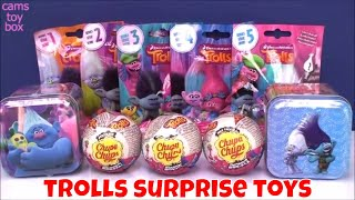 Dreamworks Trolls Surprise Toys Blind Bags Opening Chupa Chups Tins Series 1 2 3 4 5