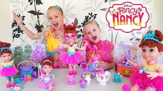 Opening Fancy Nancy Fantastique Toys! Baldi Basics Steals Our New Disney Toys!!!