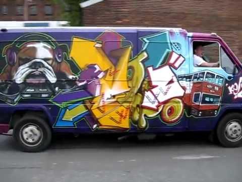 kELzO.com - Graffiti Van, Manchester, 2010