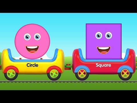 Shapes Train | Shapes for Children | 2d Shapes | Shapes Song