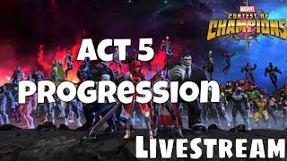 Act 5 Progression on the Second Account  l  Marvel Contest Of Champions