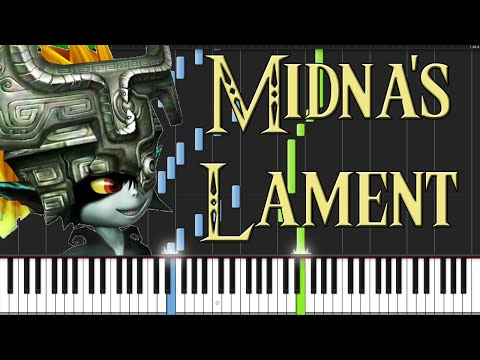 Midna's Lament - The Legend Of Zelda: Twilight Princess [piano Tutorial] (synthesia) video