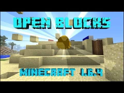 MINECRAFT REVIEW DEL MOD OPEN BLOCKS!!!   PARA MINECRAFT 1.6.4 FORGE