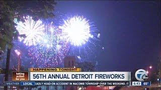 Detroit Fireworks tonight