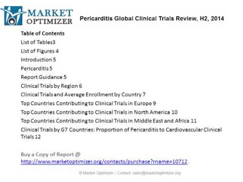 Pericarditis Therapeutics Trials Market In depth Analysis 2014