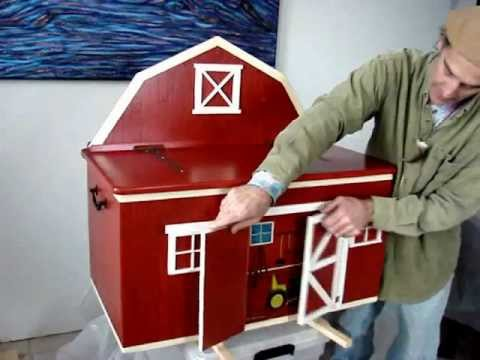 barn shaped toy box plans