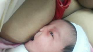 Precious Isabelle Sollober 1st attempt breastfeeding (01.27.17)