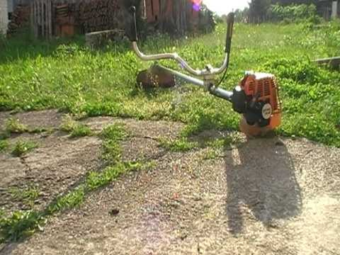 Using my Stihl FS 85 brushcutter with the cutting/trimmer line head on pt. 1