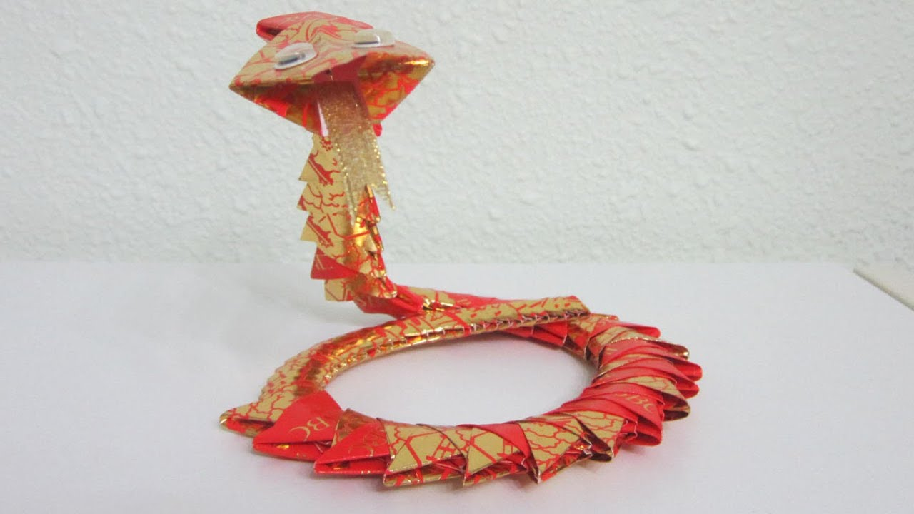 TUTORIAL 4 - 3D Origami Snake - YouTube - photo#12
