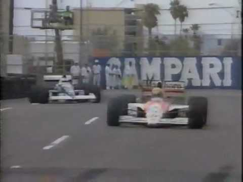 Jean Alesi versus Ayrton Senna in Phoenix, fighting for the lead.