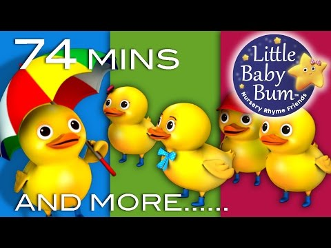 Five Little Ducks | Plus Lots More Nursery Rhymes | 74 Minutes Compilation! video