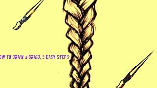 How To Draw A Plait / Braid: Hair Drawing Tutorial |3 Steps