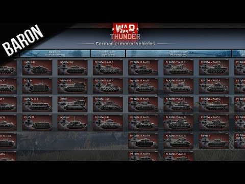 War Thunder Tanks - German & Russian Tech Trees