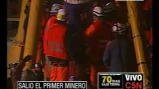 Thumb Videos de los 9 primeros mineros rescatados de la Mina de Copiapó, Chile