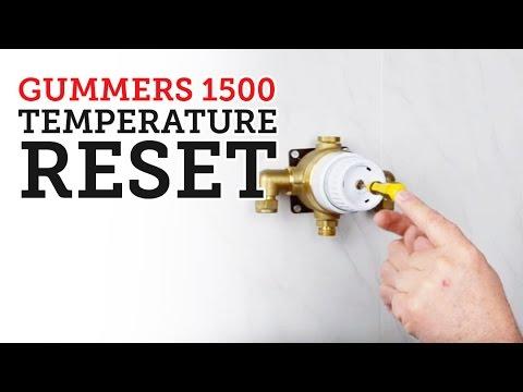 Temperature reset on a Gummers 1500 series valve.