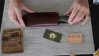 Laplander Leather sheath. Unboxing