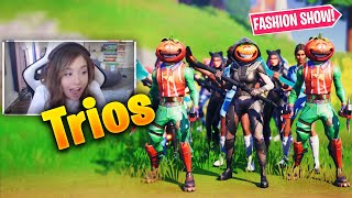 *TRIO* Fortnite Fashion Show! FIRE Skin Competition! Best DRIP & COMBO WINS!