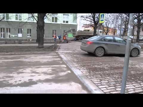 Финский лежачий полицейский в Выборге