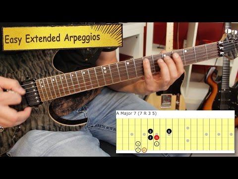 Simple Extended Arpeggio Trick Guitar Lesson