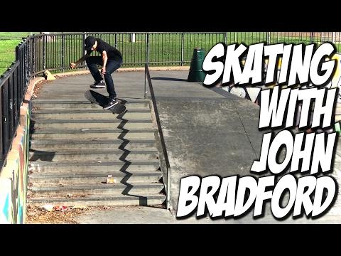 SKATEBOARDING WITH JOHN BRADFORD !!! - A DAY WITH NKA -