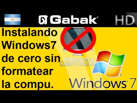 Instala Windows 7 de cero sin formatear la pc (Sin perder los datos)