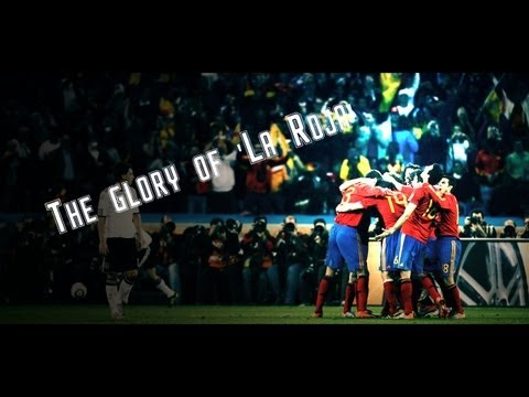 The glory of  La Roja  (Euro 2008, World Cup 2010 and Euro 2012).