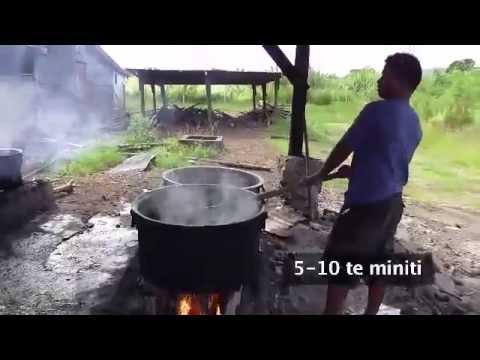 Processing sea cucumbers into beche-de-mer: KIRIBATI version