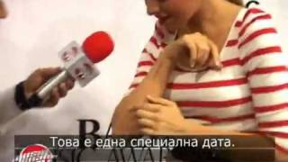 Hadise @ Balkan music awards interview