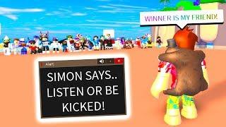 KICK SIMON SAYS FOR A FRIEND REQUEST! (Roblox)