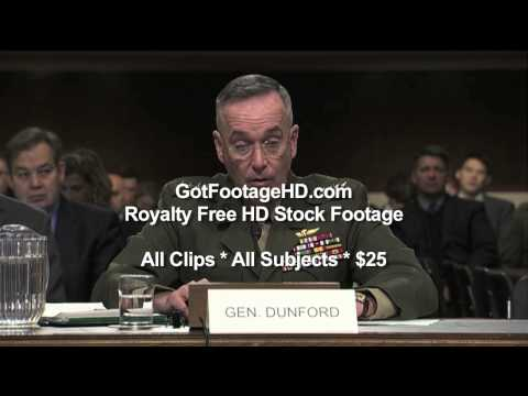 General Joseph Dunford testifies Before Congress by GotFootageHD.com