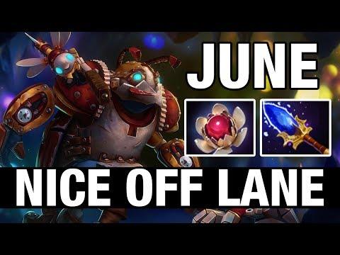 NICE OFF LANE - June Plays Clockwerk - Dota 2