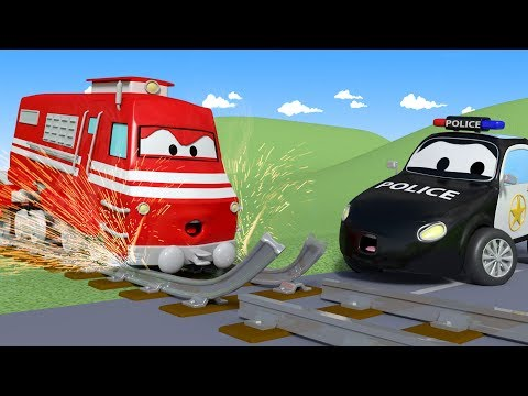 Somebody has broken the railroad tracks ! - The Car Patrol in Car City l Kids Cartoons