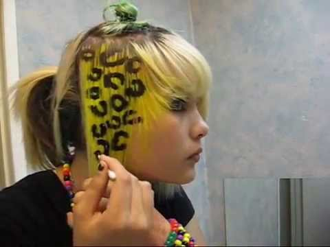 how to do cheetah / lepard print hair