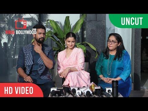 UNCUT - Chit Chat With Team Raazi   Alia Bhatt, Vicky Kaushal, Meghna Gulzar thumbnail