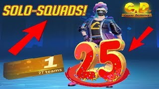MASSACRE! 25 KILL SOLO SQUAD! #GOAT (Creative Destruction)
