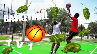 LOSER EATS HOT PEPPER!!     Floyd VS Webs Basketball 1v1