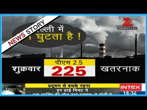 Reports on the sufferings of people due to heavy air pollution in Delhi