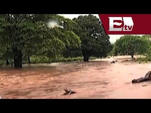 Fuertes lluvias provocan deslaves y desbordamientos de ríos en Veracruz/ Gloria Contreras