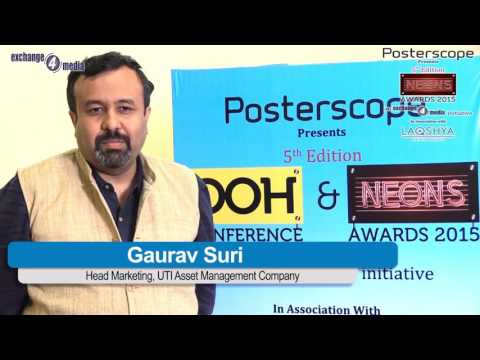 Gaurav Suri, Head Marketing, UTI Asset Management Company